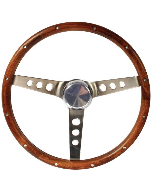 Grant Wood Rim Steering Wheel 13.5'' with Holes '' Spokes