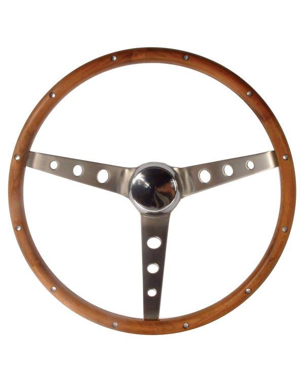 Lenkrad GRANT 15'' Holz mit gelochten Speichen geschüsselt