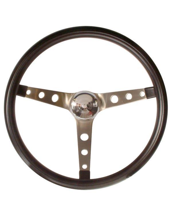 Lenkrad GRANT 15'' Vinyl schwarz mit gelochten Speichen geschüsselt