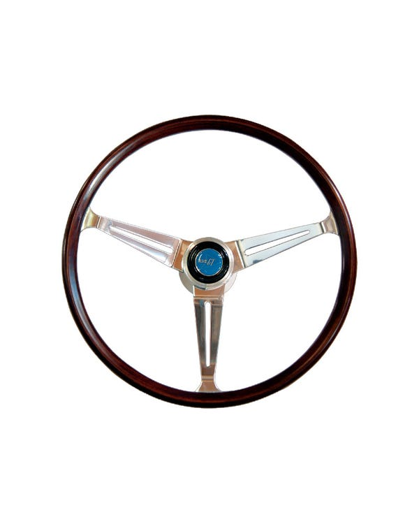 Flat4 GT Wood Rim Steering Wheel 15 Inch