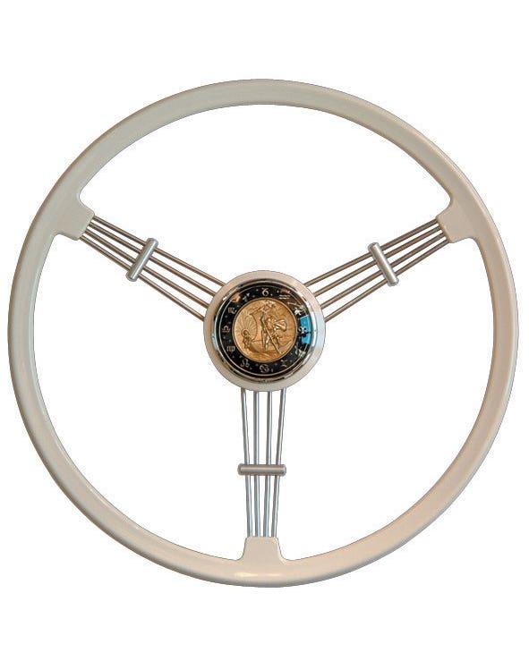 Flat4 Banjo Steering Wheel Ivory Coloured