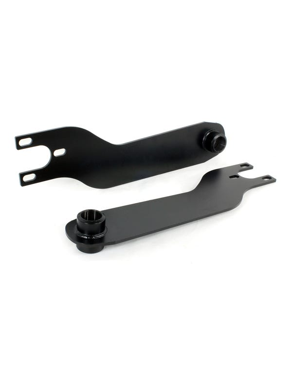 4 Inch Adjustable Dropped Spring Plates for Swing Axle