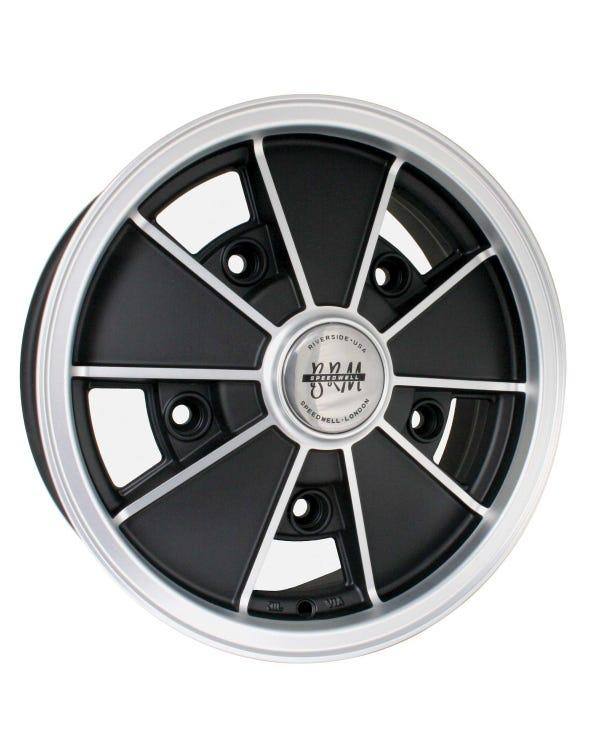 """SSP BRM Alloy Wheel Matt Black 5Jx15'', 5/205 PCD, 3.55"""" BS"""
