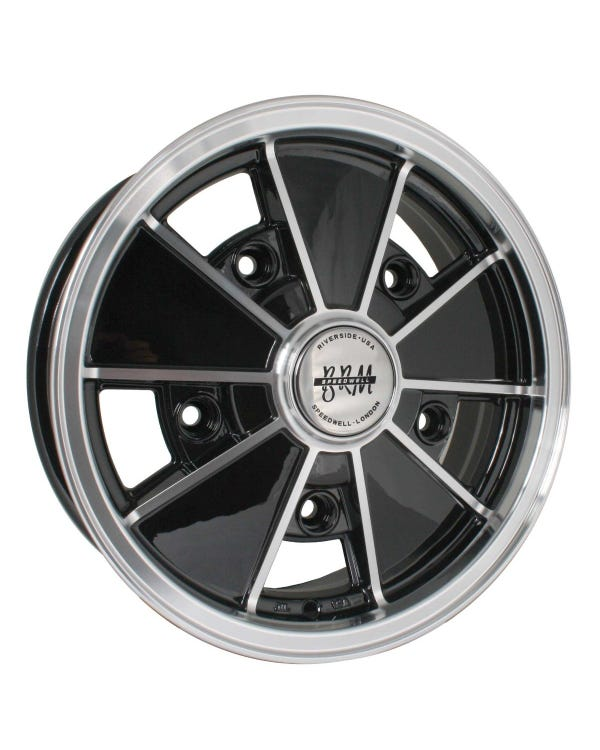 "SSP BRM Alloy Wheel Gloss Black 5x15"", 5/205 PCD, ET14"