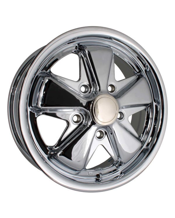 "SSP Fooks Alloy Wheel Chrome 4.5x15"", 5/130 PCD, ET45"