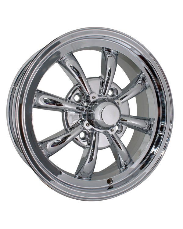 "SSP GT 8 Spoke Alloy Wheel Chrome 5.5x15"", 4/130 PCD, ET30"