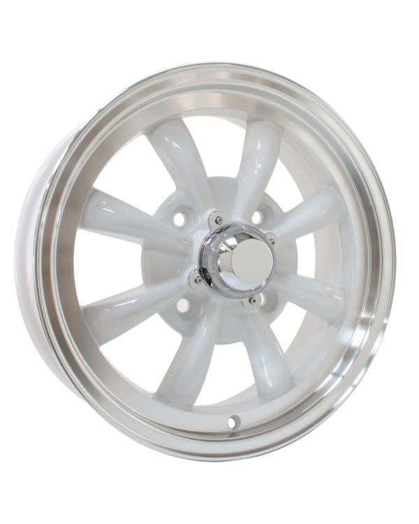 "SSP GT 8 Spoke  Alloy Wheel White 5.5x15"", 4/130 PCD, ET30"