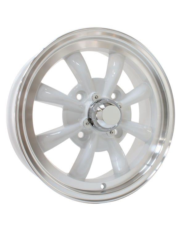 SSP GT 8 Spoke  Alloy Wheel White 5.5Jx15'' with 4x130 Stud Pattern ET30