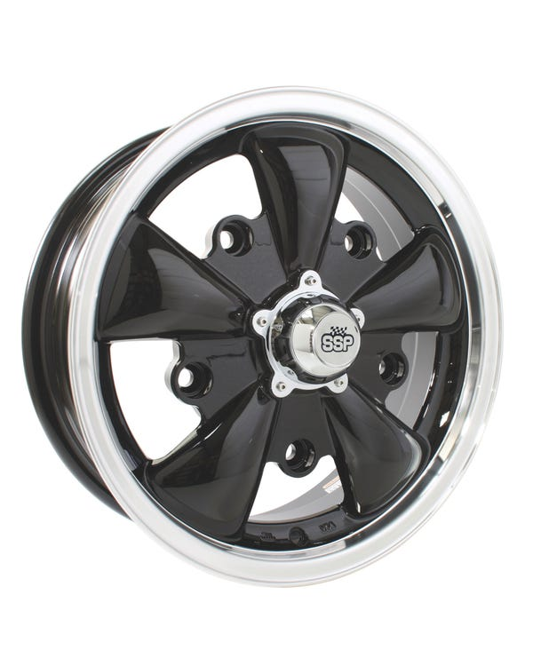 "SSP GT 5 Spoke Alloy Wheel Black 5.5x15"", 5/205 PCD, ET20"