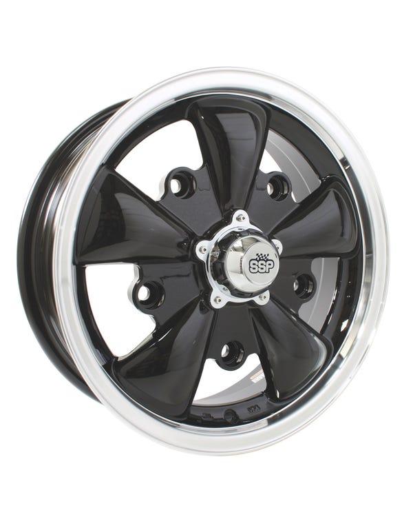 """SSP GT 5 Spoke Alloy Wheel Black 5.5x15"""", 5/205 PCD, 4.04"""" BS"""