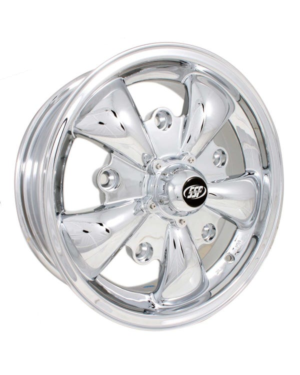 SSP GT 5 Spoke Alloy Wheel Chrome 5.5x15'', 5/205 PCD, ET20