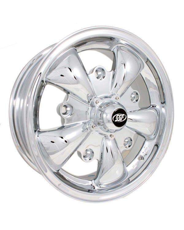 "SSP GT 5 Spoke  Alloy Wheel Chrome 5.5x15'', 5/205 PCD, 4.04"" BS"