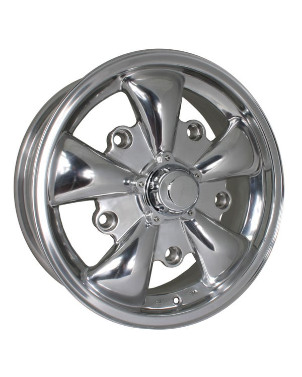 "SSP GT 5 Spoke Polished Alloy Wheel 5.5x15"", 5/205 PCD, ET20"