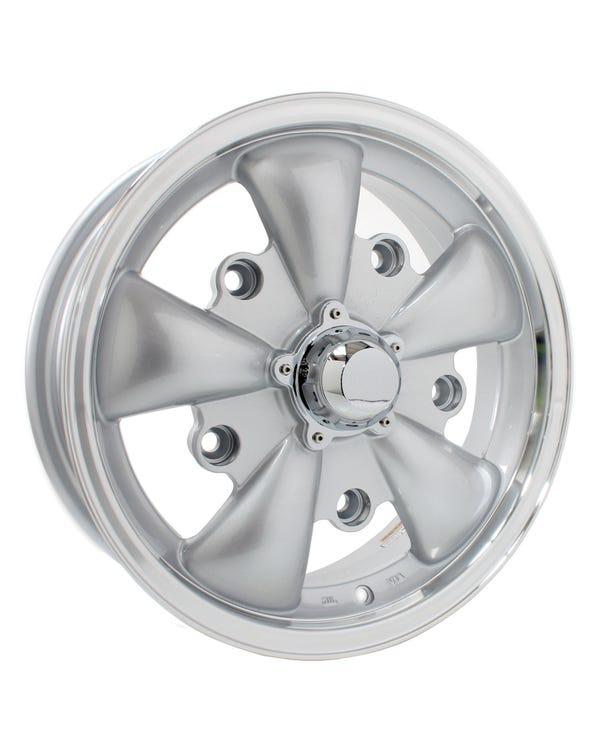 """SSP GT 5 Spoke Alloy Wheel Silver 5.5x15'', 5/205 PCD, 4.04"""" BS"""