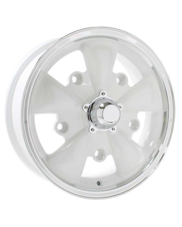 """SSP GT 5 Spoke Alloy Wheel White 5.5x15'', 5x205 PCD, 4.04"""" BS"""