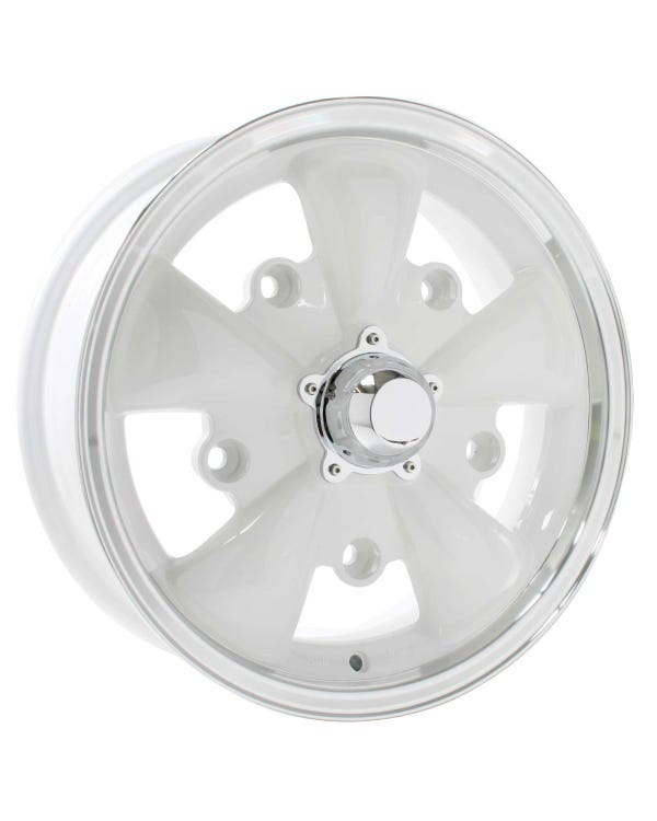 SSP GT 5 Spoke Alloy Wheel White 5.5x15'', 5/205 PCD, ET20