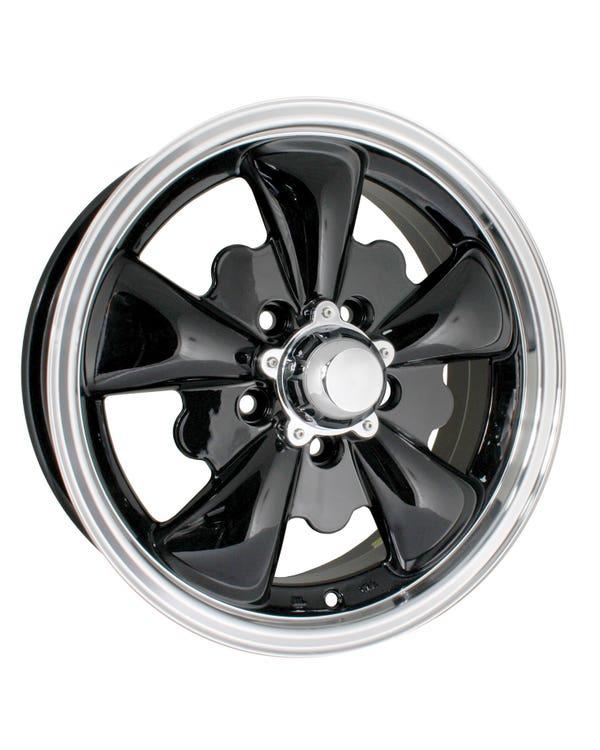"SSP GT 5 Spoke  Alloy Wheel Black 5.5x15"", 5/112 PCD, ET20"