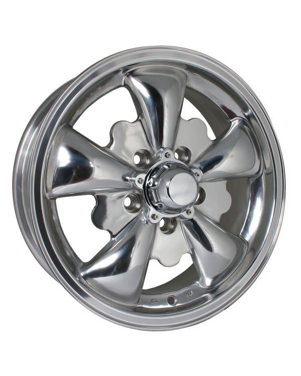 """SSP GT 5 Spoke Alloy Wheel Polished 5.5x15"""", 5/112 PCD, ET20"""