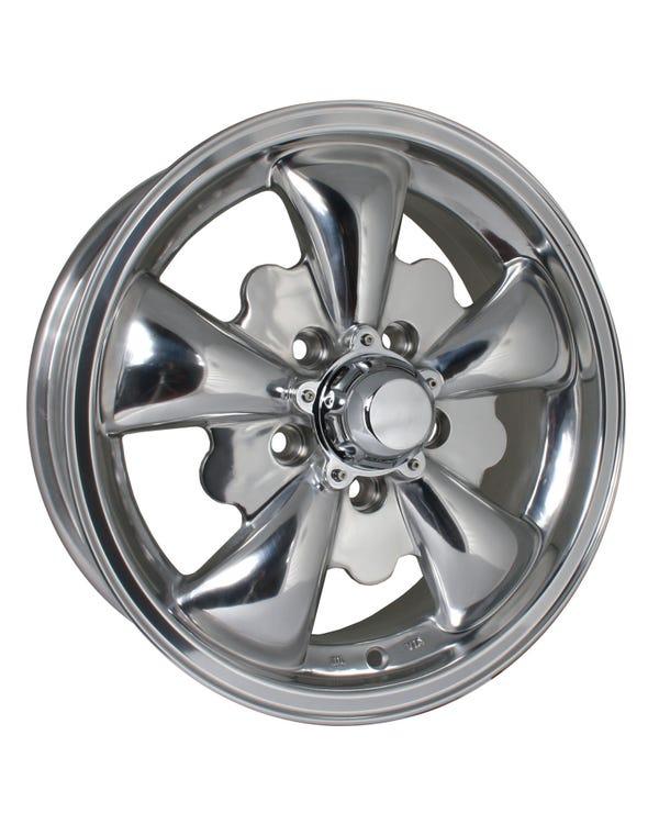 SSP GT 5 Spoke  Alloy Wheel Polished 5.5Jx15'' with 5x112 Stud Pattern ET20