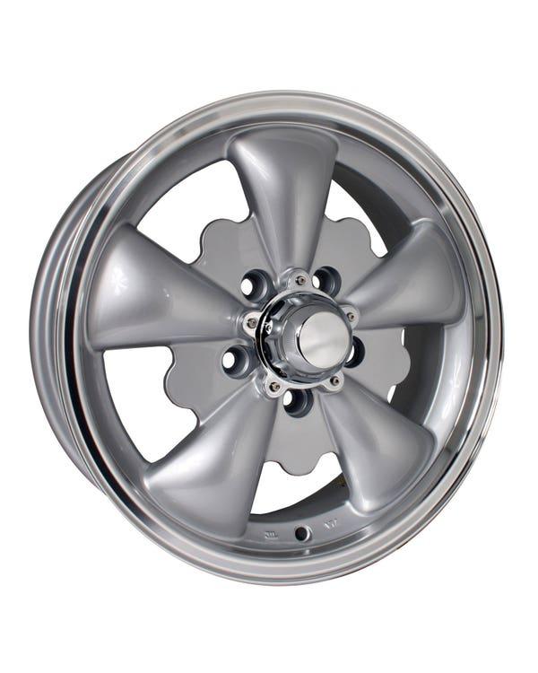 """SSP GT 5 Spoke  Alloy Wheel Silver 5.5x15"""", 5/112 PCD, ET20"""