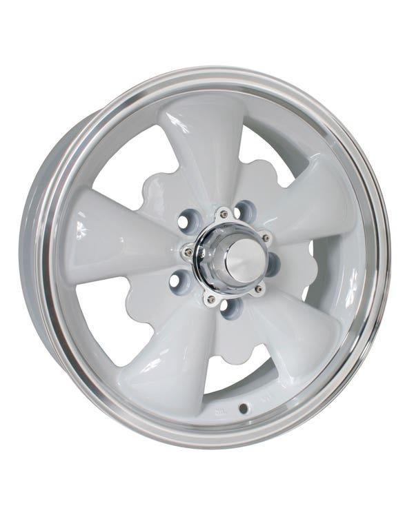 "SSP GT 5 Spoke Alloy Wheel White 5.5x15"", 5/112 PCD, ET20"