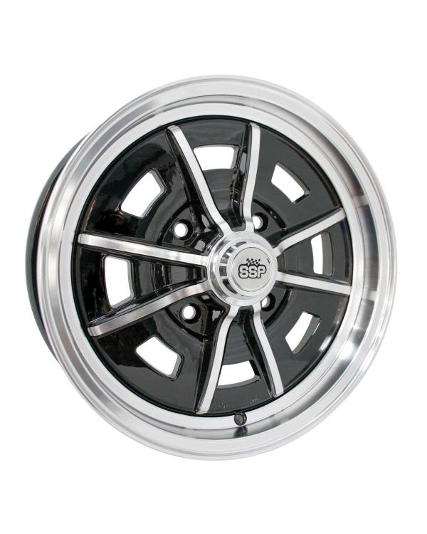 SSP Sprintstar Alloy Wheel Gloss Black 5x15'', 4/130 PCD, ET25