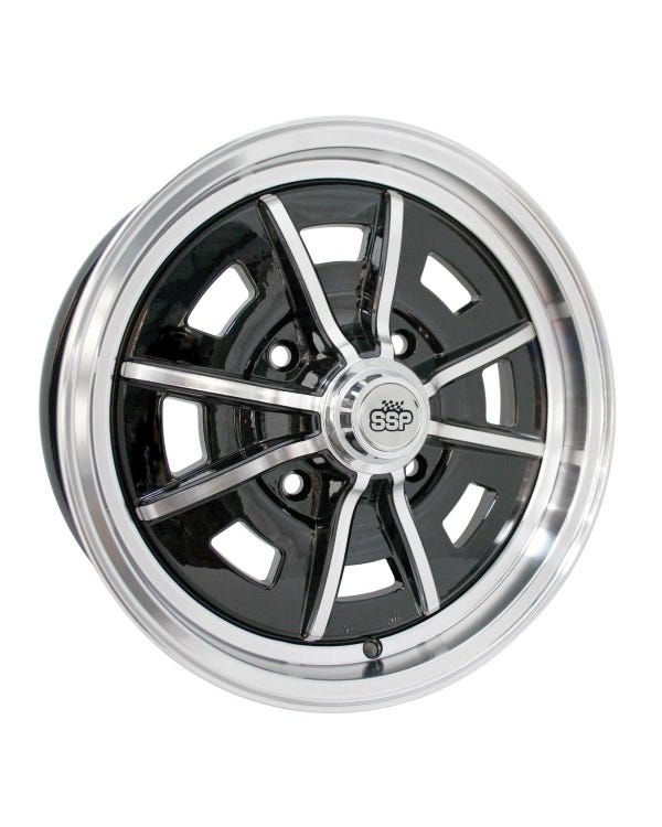 SSP Sprintstar Alloy Wheel Gloss Black 5x15'', 4/130 PCD, ET25
