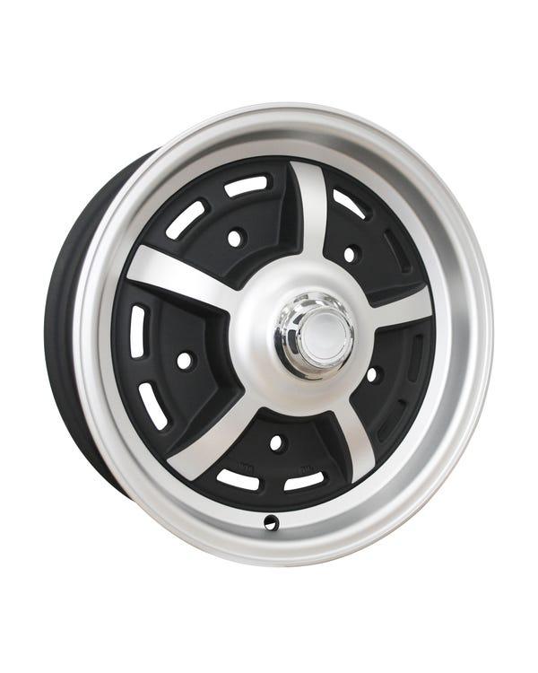 "SSP Sprintstar Alloy Wheel Matt Black 5x15"", 5/205 PCD, 3.79"" BS"