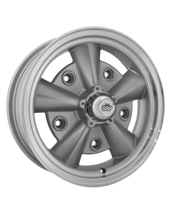 "Crest Alloy Wheel Silver 5.5x15"", 5/205 PCD, 3.72"" BS"
