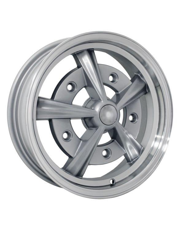 """SSP Raider Alloy Wheel Silver 5x15'', 5/205 PCD, 3.79"""" BS"""