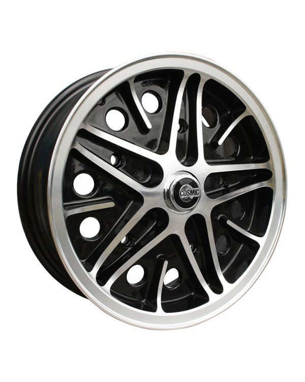 "SSP Cosmic Alloy Wheel Black Diamond Cut 5.5x15"", 5/205 PCD, ET22"