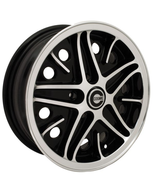 "SSP Cosmic Alloy Wheel Black Diamond Cut 5.5x15"", 5x112 PCD, ET20"