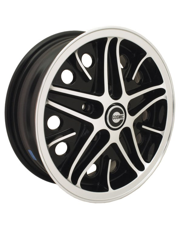 "SSP Cosmic Alloy Wheel Black Diamond Cut 5.5x15"", 5/130 PCD, ET25"