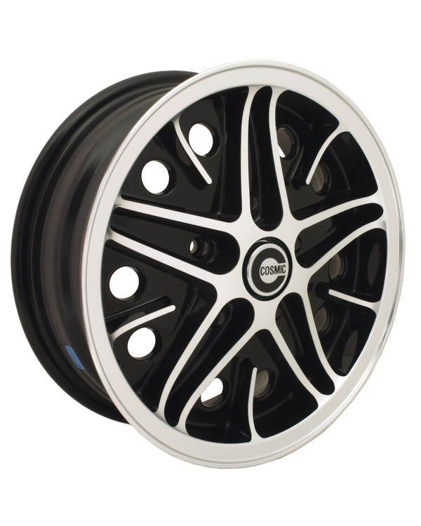 SSP Cosmic Alloy Wheel Black Diamond Cut 5.5Jx15'' with 5x130 Stud Pattern ET25