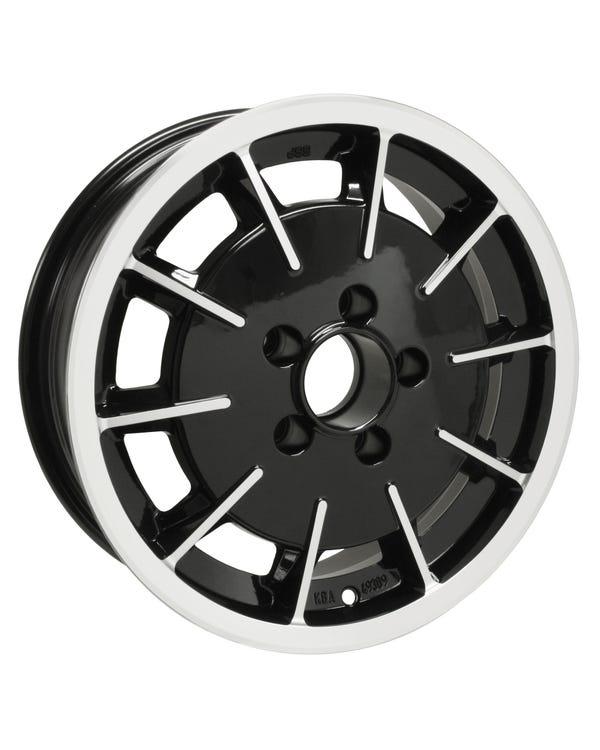 SSP Gas Burner Alloy Wheel Black and Polished 5.5Jx15'' with 5x112 Stud Pattern ET20