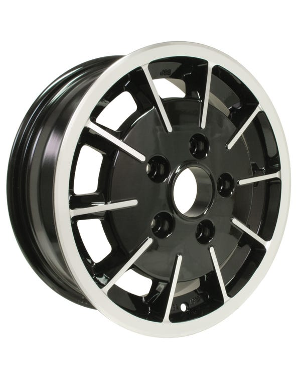 SSP Gas Burner Alloy Wheel Black and Polished 5.5Jx15'' with 5x130 Stud Pattern ET45
