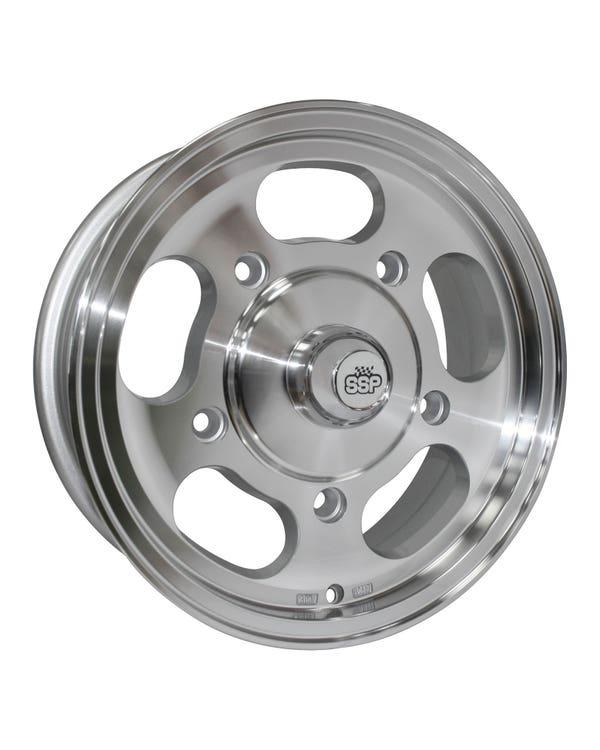 "SSP Slot Mag Alloy Wheel 5.5x15"", 5/205 PCD,  ET23"