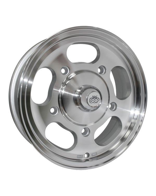 "SSP Slot Mag Alloy Wheel 5.5x15"", 5/205 PCD,  4.16"" BS"