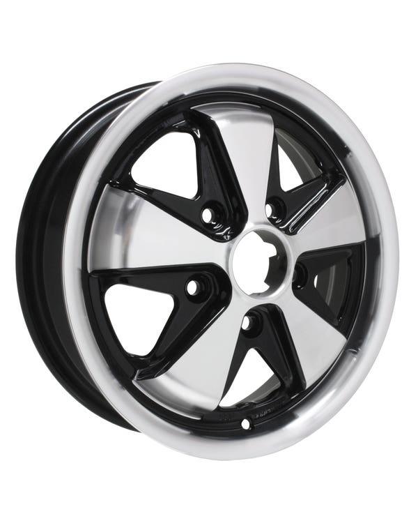 "SSP Fooks Alloy Wheel Black and Polished, 4.5x15"", 5/130 PCD, ET45"