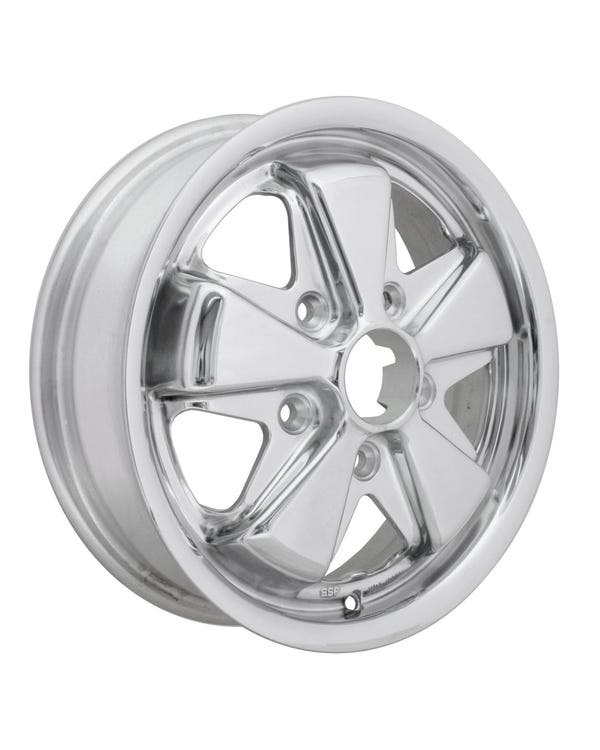 """SSP Fooks Alloy Wheel with Fully Polished Finish 4.5x15"""", 5/130, 4.52"""" BS"""