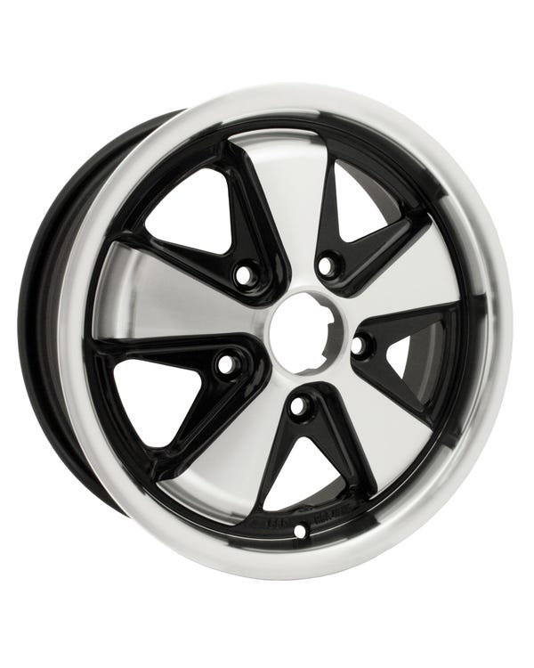 "SSP Fooks Alloy Wheel Black and Polished 5.5x15"", 5/130 PCD, ET45"