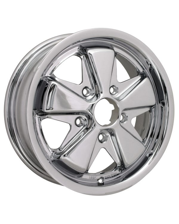 "SSP Fooks Alloy Wheel Chrome 5.5x15"", 5/130 PCD, ET45"