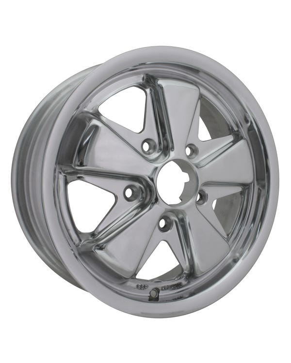 "SSP Fooks Alloy Wheel Fully Polished 5.5x15"", 5/130 PCD, ET45"