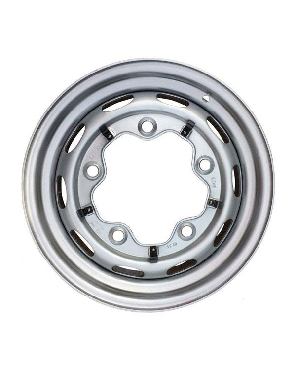 """Steel Wheel 10 Slot, 5.5Jx15"""", 5x205 Stud Pattern, ET25"""