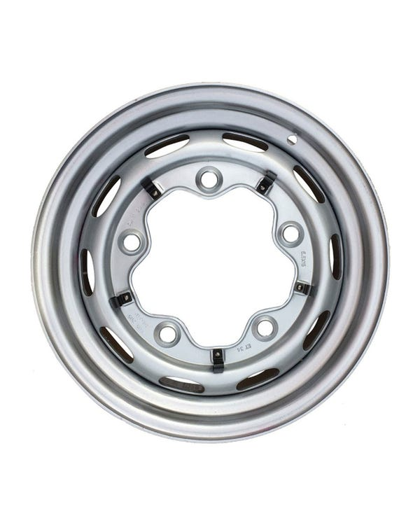 "Steel Wheel 10 Slot, 5.5Jx15"", 5x205 Stud Pattern, ET25"