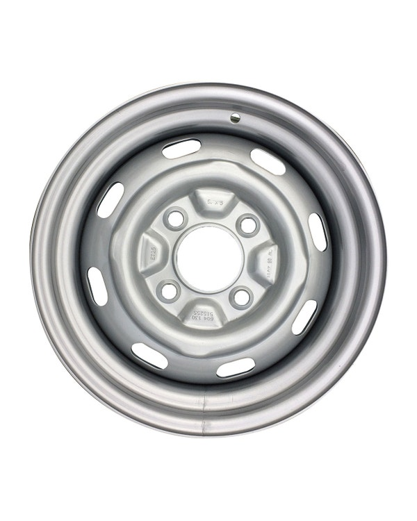 """Steel Wheel 8 Slot, 5.5Jx15"""", 4x130 Stud Pattern, ET25"""