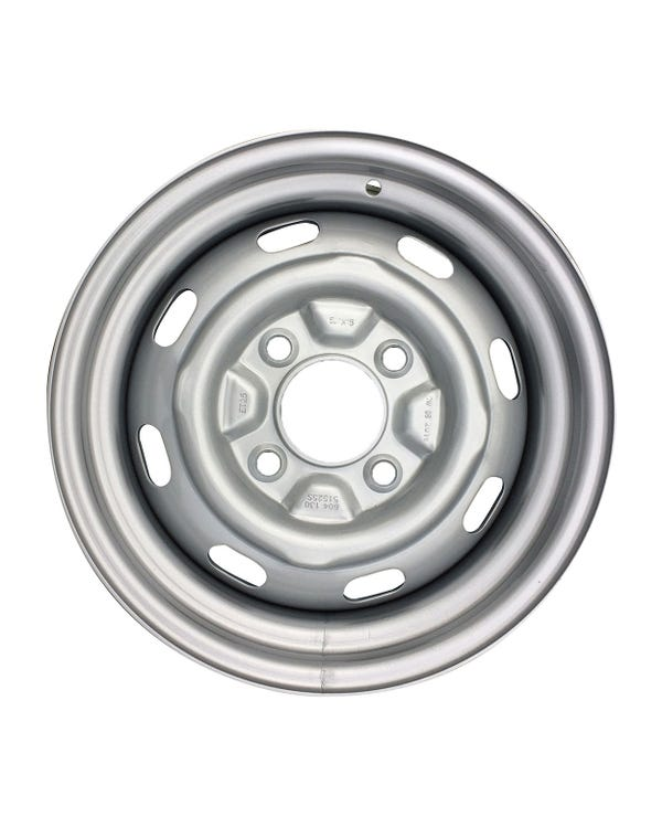 "Steel Wheel 8 Slot, 5.5Jx15"", 4x130 Stud Pattern, ET25"