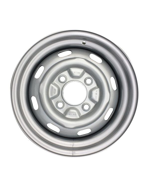 """Steel Wheel 8 Slot, 5.5Jx15"""", 4x130 Stud Pattern, ET34"""