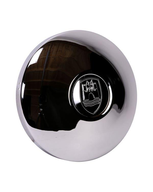 Wolfsburg Crest Hubcap in Chrome