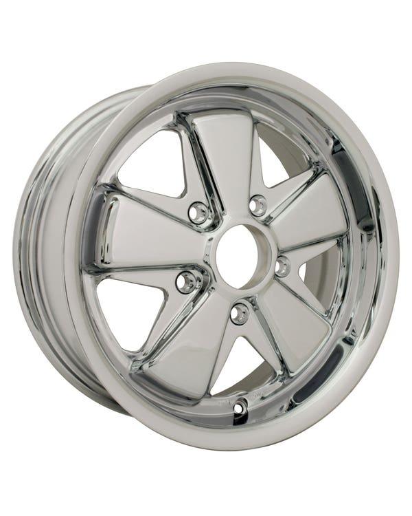 Flat4 911 Style Deep Dish Chromed Wheel 6x15'', 5/130 PCD, ET35